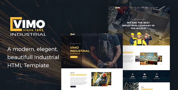 Vimo - Industry, Industrial, Factory and Engineering HTML Template - Corporate Site Templates