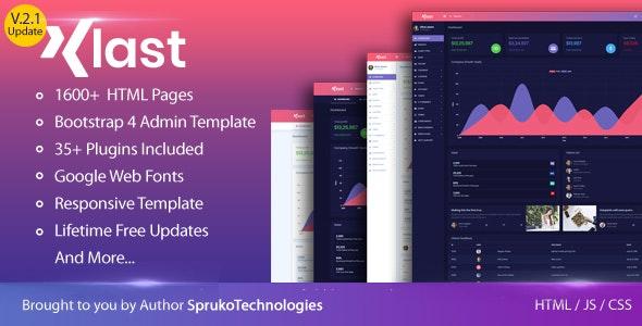 KLAST – Bootstrap 4 HTML5 Admin Dashboard Responsive Template - Admin Templates Site Templates