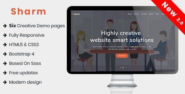 Sharm - One Page Creative Template - Creative Site Templates