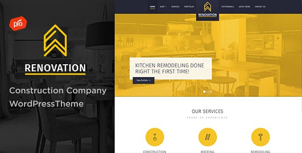 General Contractor Templates from ThemeForest