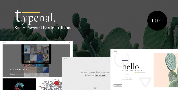 Typenal - Portfolio Creative WordPress Theme - Portfolio Creative