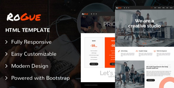 ROGUE - Creative Multi-purpose HTML Template - Creative Site Templates