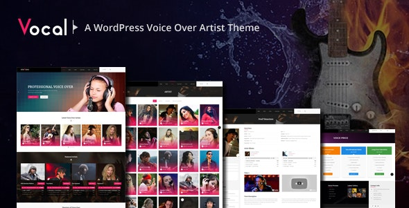 Vocal -  Voice Over Artists WordPress Theme - Business Corporate