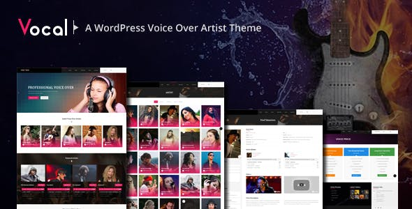 Voice Over Artist Templates from ThemeForest