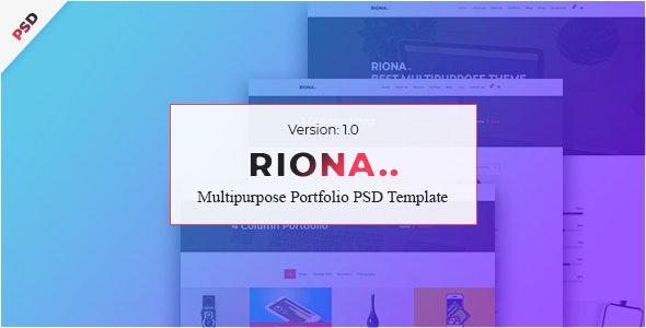 Riona - Multipurpose Portfolio PSD Template - Portfolio Creative