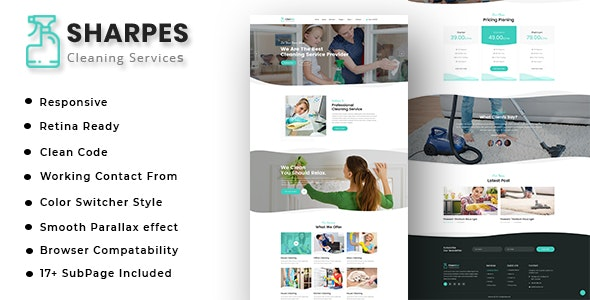 Sharpes | Dry Cleaning Services HTML Template - Business Corporate