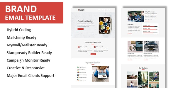 Brand - Multipurpose Responsive Email Template with Online StampReady & Mailchimp Editors - Newsletters Email Templates