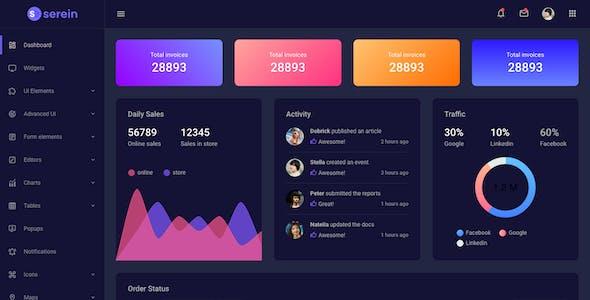 Serein Bootstrap Admin Dashboard Template