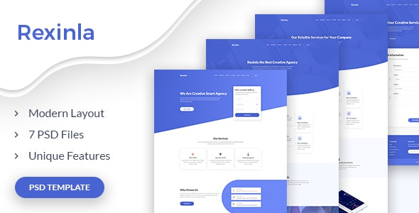 Rexinla - Multi Purpose PSD Template - Photoshop UI Templates