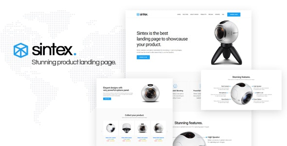 Sintex - Product Landing Page Template - Landing Pages Marketing