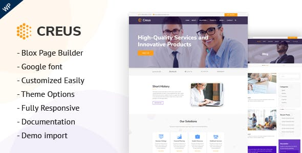 Creus - Business and Financial Consulting WordPress Theme