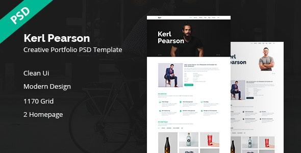 Kerl Pearson | Creative Portfolio PSD Template - Portfolio Creative