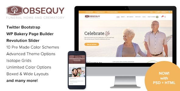 Obsequy - Funeral Home WordPress Theme - Nonprofit WordPress
