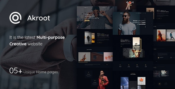 Akroot | It is the Multi-Purpose Creative PSD Template - Creative Photoshop