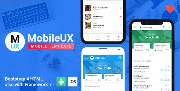 Mobileux | Multipurpose HTML Mobile App Template - Mobile Site Templates