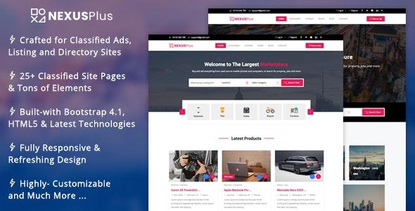 NexusPlus - Classified Ads Website Template - Business Corporate
