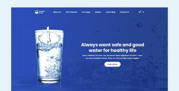 Fresh Vial - Drinking Mineral Water Delivery PSD Template