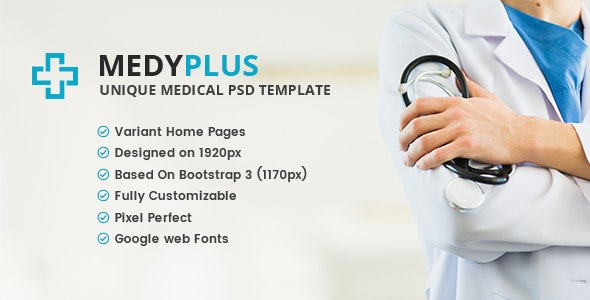 MedyPlus - Unique Medical & Health PSD Template - Health & Beauty Retail