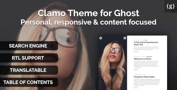 Clamo - Personal Ghost Theme