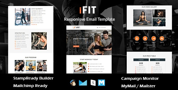 iFIT - Responsive Email Template With Online Stampready Builder Access - Newsletters Email Templates