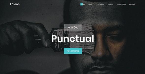 Faloon-Creative Personal Portfolio Template - Site Templates