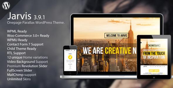 Jarvis – Onepage Parallax WordPress Theme