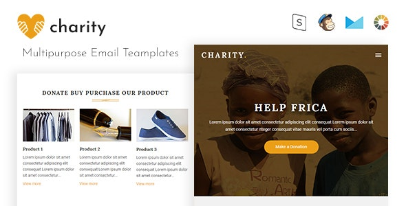 Charity Corporate Responsive Email Template - Email Templates Marketing