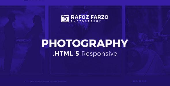 Rafoz Photography HTML Template - Photography Creative