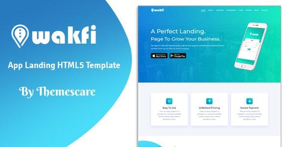 Wakfi - App Landing HTML5 Template - Technology Site Templates
