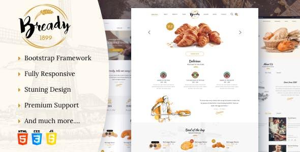 Bready - Bakery, Cakery & Food Template