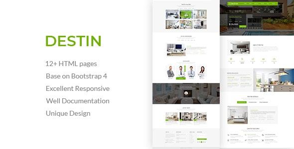 Destin   Real Estate Single Property HTML5 Template - Business Corporate