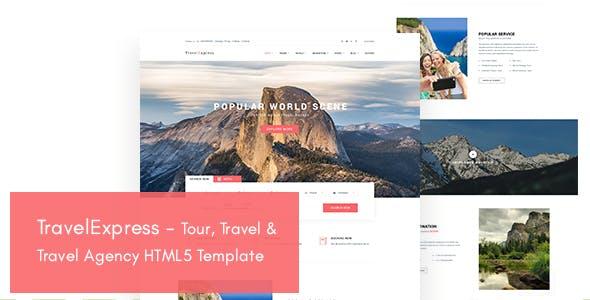 TravelExpress - Tour, Travel & Travel Agency HTML5 Template