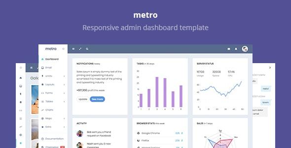 Metro - Responsive Admin Dashboard Template - Admin Templates Site Templates