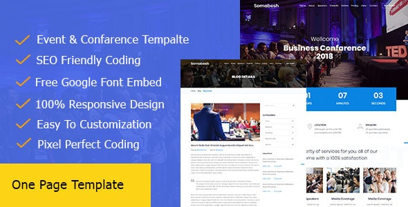 Somabesh || One Page Event and Conference HTML5 Template - Corporate Site Templates