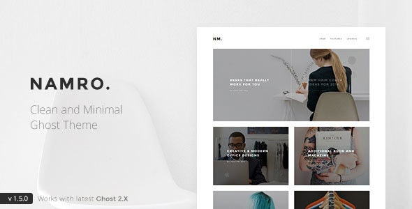 Namro - Clean and Minimal Ghost Theme - Ghost Themes Blogging