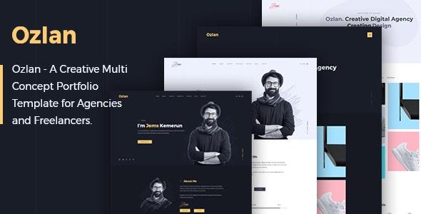 Ozlan - A Creative Multi-Concept Portfolio PSD Template for Agencies and Freelancers - Portfolio Creative