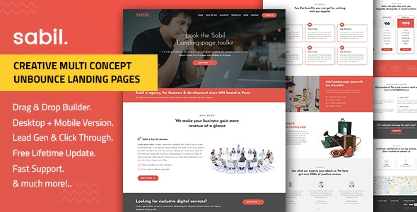 Sabil — Multi-Purpose Template with Unbounce Page Builder - Unbounce Landing Pages Marketing