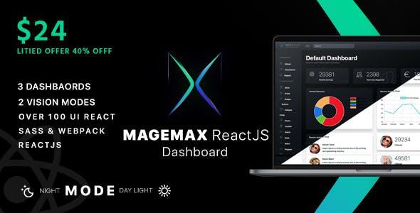 Magemax - React JS Admin Dashboard