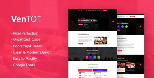 VenToT - Conference Ticket, Seminar & Event HTML Template - Events Entertainment