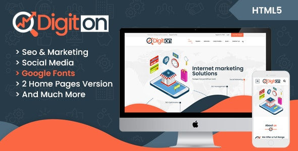Digiton - SEO and Digital Agency HTML Template - Business Corporate
