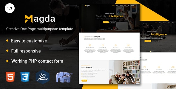 Magda - Creative One Page multipurpose template - Business Corporate