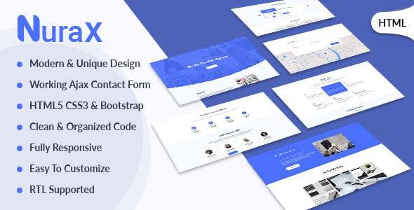 Nurax - Creative Digital Agency & Multipurpose HTML Template - Creative Site Templates