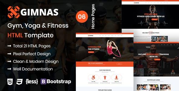 Gimnas – Gym, Yoga & Fitness HTML Template