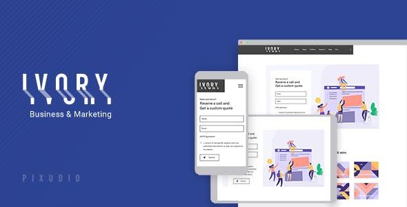Ivory - Multipurpose Gutenberg Theme for Business and Marketing + RTL
