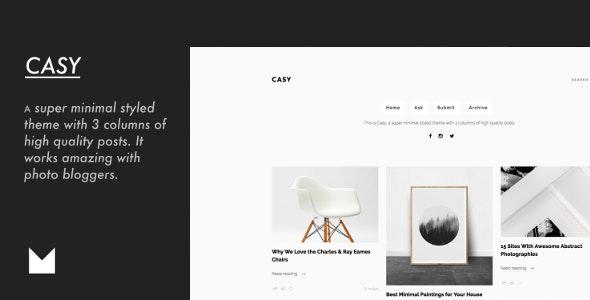 Casy - Clean & Minimal Portfolio - Portfolio Tumblr