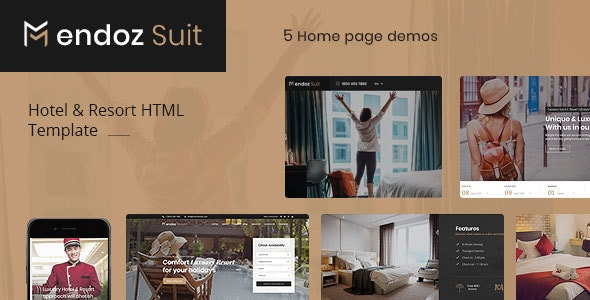 Mendoz Suit - Hotel & Resort HTML Template - Travel Retail