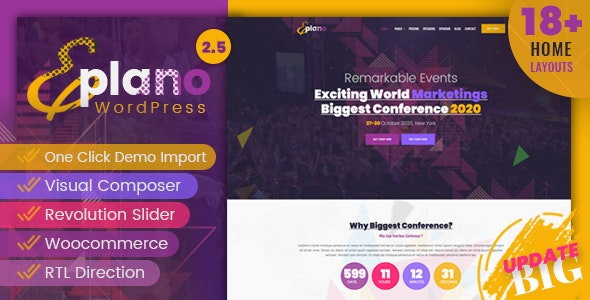 Eplano - Event and Conference WordPress Theme - Events Entertainment