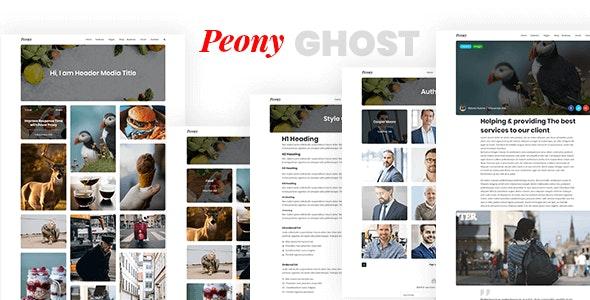 Peony - Minimal Responsive Premium Ghost Theme by themeix_lab