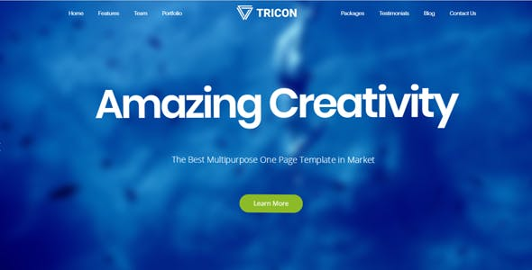 Tricon - One Page Parallax