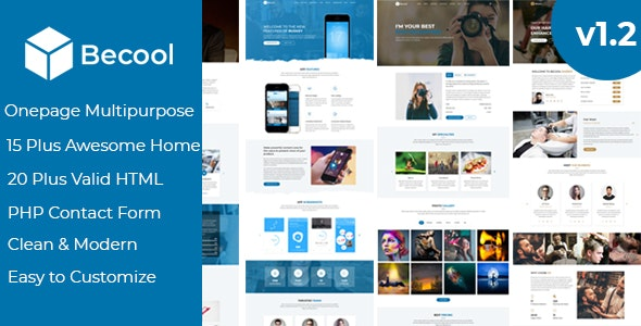 Becool - Onepage Multipurpose Template - Site Templates